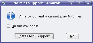 Amarok cannot play Mp3s