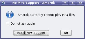Amarok cannot playMp3s