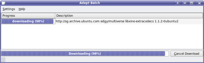 Adept downloading Mp3support