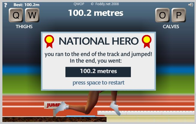 QWOP finish screenshot