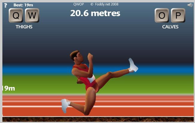QWOP Funky Chicken Leg cheat way of winning
