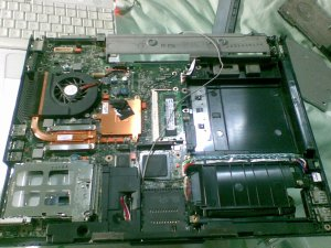 Laptop innards