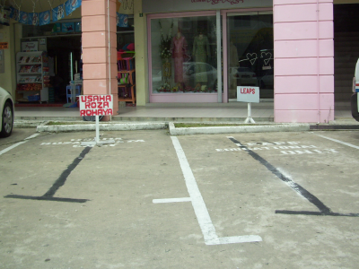 reserved parking?