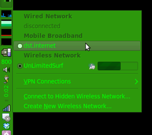 Connect to dst.internet via Network Manager applet