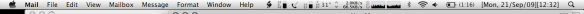 menu bar mail