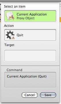 trigger command quit