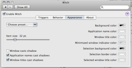 witch pref pane appearance tab