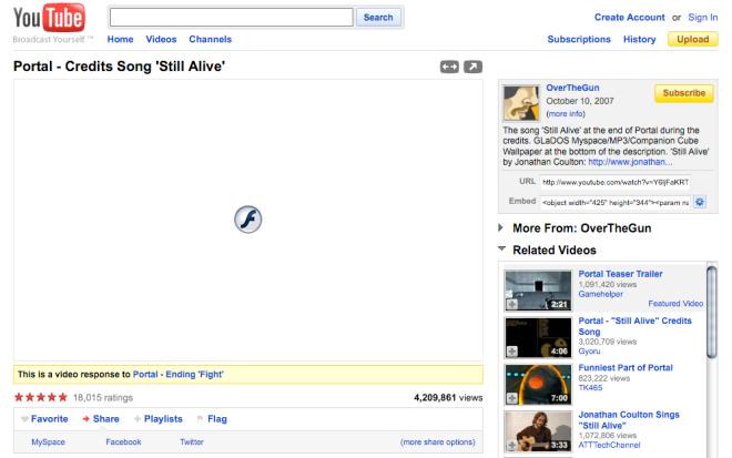Flashblock in Firefox in action