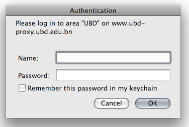 guestubd proxy authentication popup