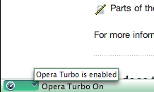Opera Turbo via status bar