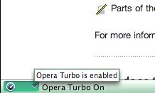 Opera Turbo via status bar
