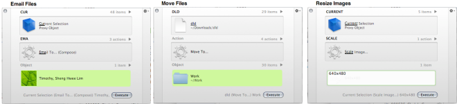 quicksilver in action email files move files resize images