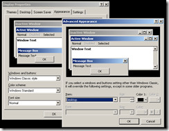Advanced Appearance Dialog Box