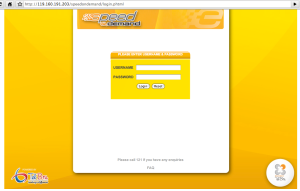 Speed on Demand login page