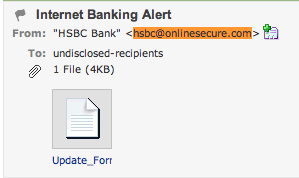 HSBC Phishing Email - Fake Email