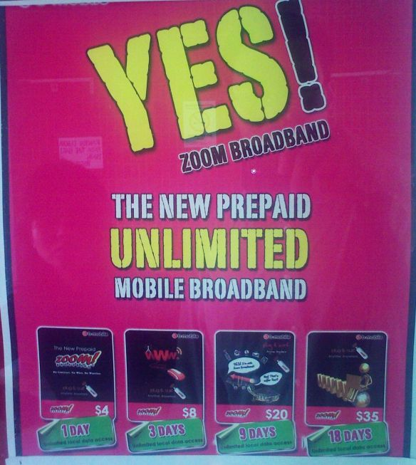 Prepaid Zoom Broadband Poster