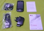 lg p500 optimus one unboxed contents