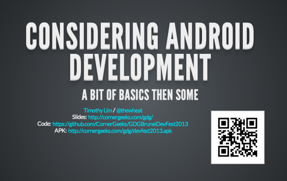 Considering Android Development Slidedeck