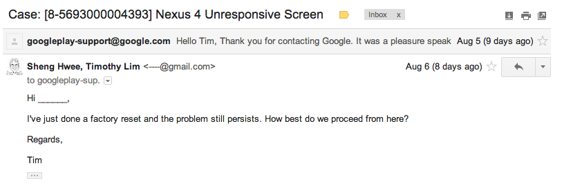 Google Case Email