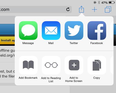 iOS 8 advanced sharing