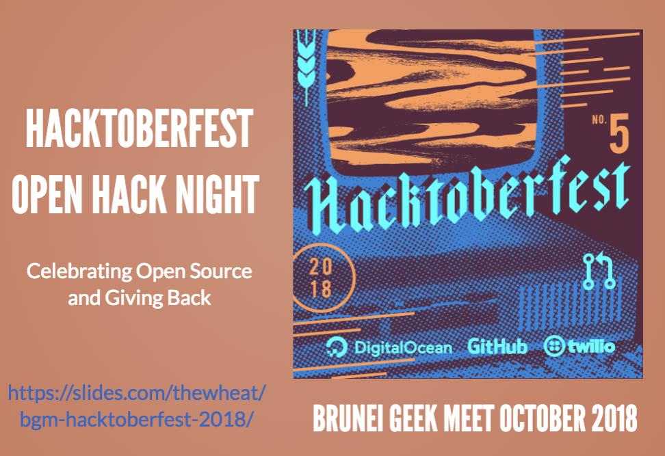 BGM Hacktoberfest 2018 slides